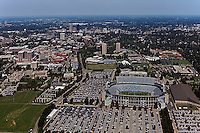 aerial photograph,  University of Kentucky, Commonwealth Stadium, Lexington, Kentucky