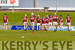 Causeway players warm up before the Kerry County Senior Hurling Championship Final match between Kilmoyley and Causeway at Austin Stack Park in Tralee