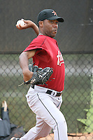 March 16th 2008:  Sergio Severino of the Houston Astros minor league system during Spring Training at Osceola County Complex in Kissimmee, FL.  Photo by:  Mike Janes/Four Seam Images