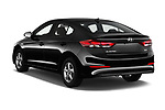 Car pictures of rear three quarter view of a 2018 Hyundai Elantra ECO 4 Door Sedan angular rear