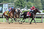 August 8 2020: Serengeti Empress #1, ridden by Luis Saez, wins the Ballerina  on Travers Day at Saratoga Race Course in Saratoga Springs, New York. Rob Simmons/Eclipse Sportswire/CSM