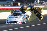 Sep 1, 2019; Clermont, IN, USA; NHRA funny car driver John Force during qualifying for the US Nationals at Lucas Oil Raceway. Mandatory Credit: Mark J. Rebilas-USA TODAY Sports