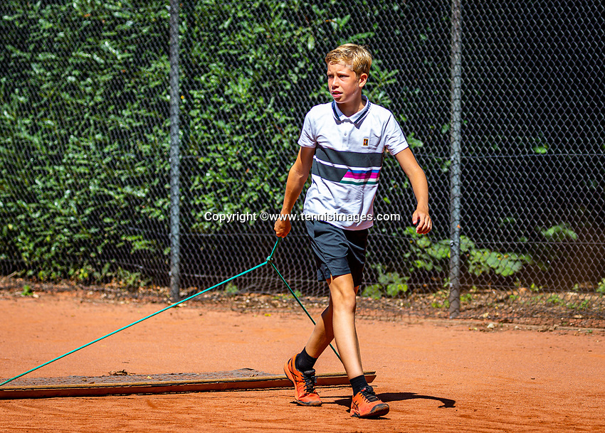 Hilversum, Netherlands, Juli 29, 2019, Tulip Tennis center, National Junior Tennis Championships 12 and 14 years, NJK, Thijs Boogaard (NED)<br /> Photo: Tennisimages/Henk Koster