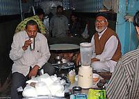 Sipping Lasi in New Delhi, India.