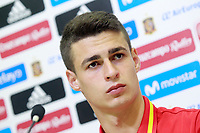 Spain's Kepa Arrizabalaga in press conference after training session. June 5,2017.(ALTERPHOTOS/Acero)