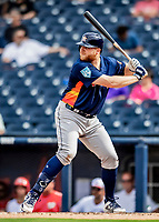 27 February 2019: Houston Astros first baseman AJ Reed in pre-season action against the Washington Nationals at the Ballpark of the Palm Beaches in West Palm Beach, Florida. The Nationals defeated the Astros 14-8 in their Spring Training Grapefruit League matchup. Mandatory Credit: Ed Wolfstein Photo *** RAW (NEF) Image File Available ***