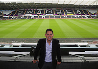 Pictured: Friday 22 July 2016<br />Jason Levien one of the new US owners of Swansea City FC, at the Liberty Stadium, Swansea, Wales UK.