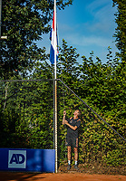 Hilversum, Netherlands, Juli 29, 2019, Tulip Tennis center, National Junior Tennis Championships 12 and 14 years, NJK, Opening: raising the Dutch flag<br /> Photo: Tennisimages/Henk Koster
