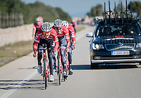 John Degenkolb (DEU/Trek-Segafredo) full gas a sprint lead-out training during the Team Trek-Segafredo winter training camp <br /> <br /> january 2017, Mallorca/Spain