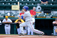 St. Lucie Mets catcher Cam Maron #7 during a game against the Bradenton Marauders on April 12, 2013 at McKechnie Field in Bradenton, Florida.  St. Lucie defeated Bradenton 6-5 in 12 innings.  (Mike Janes/Four Seam Images)