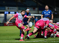 2nd October 2020; RDS Arena, Dublin, Leinster, Ireland; Guinness Pro 14 Rugby, Leinster versus Dragons; Rhodri Williams (Captain Dragons) kicks clear from his line