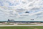 U.S. Navy Lieutenant Commander John Hlitz '02 flies with the Blue Angels.<br /> <br /> Photo by Matt Cashore/University of Notre Dame