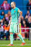 Andres Iniesta Lujan of FC Barcelona reacts during their La Liga match between Atletico de Madrid and FC Barcelona at the Santiago Bernabeu Stadium on 26 February 2017 in Madrid, Spain. Photo by Diego Gonzalez Souto / Power Sport Images