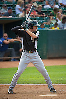 Tyler Nevin (6) of the Grand Junction Rockies at bat against the Ogden Raptors in Pioneer League action at Lindquist Field on July 5, 2015 in Ogden, Utah. Ogden defeated Grand Junction 12-2.  (Stephen Smith/Four Seam Images)