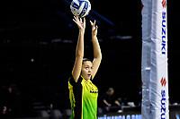 Ivana Rowland of the Pulse warm up before the ANZ Premiership Netball - Pulse v Magic at TSB Bank Arena, Wellington, New Zealand on Sunday 30 May 2021.<br /> Photo by Masanori Udagawa. <br /> www.photowellington.photoshelter.com