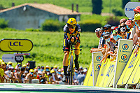 17th July 2021, St Emilian, Bordeaux, France;  TEUNISSEN Mike (NED) of JUMBO - VISMA during stage 20 of the 108th edition of the 2021 Tour de France cycling race, an individual time trial stage of 30,8 kms between Libourne and Saint-Emilion.