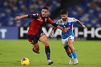 Francesco Cassata of Genoa  and Lorenzo Insigne of Napoli compete for the ball<br /> Napoli 09-11-2019 Stadio San Paolo <br /> Football Serie A 2019/2020 <br /> SSC Napoli - Genoa CFC<br /> Photo Cesare Purini / Insidefoto
