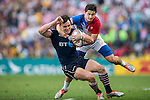 France vs Scotland during the HSBC Sevens Wold Series Bowl Final match as part of the Cathay Pacific / HSBC Hong Kong Sevens at the Hong Kong Stadium on 29 March 2015 in Hong Kong, China. Photo by Xaume Olleros / Power Sport Images