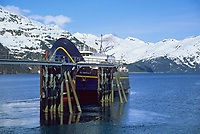 Alaska Ferry dock, Whittier, Alaska