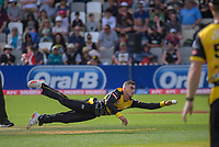 Peter Younghusband fields off his own bowling during the Dream11 Super Smash T20 men's cricket final between Wellington Firebirds and Canterbury Kings at the Basin Reserve in Wellington, New Zealand on Saturday, 13 February 2021. Photo: Dave Lintott / lintottphoto.co.nz