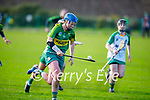 Kerry's Patrice Diggins races upfield in possession against    Meath in the Camogie Intermediate Championship