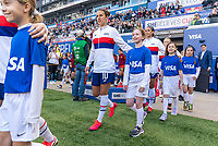 HARRISON, NJ - MARCH 08: Carli Lloyd #10 of the United States enters the field during a game between Spain and USWNT at Red Bull Arena on March 08, 2020 in Harrison, New Jersey.