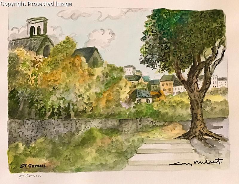 St Gervais<br /> 11x15 Original Watercolor on Paper<br /> <br /> $1,750