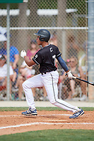 Daniel Corona (7) during the WWBA World Championship at the Roger Dean Complex on October 13, 2019 in Jupiter, Florida.  Daniel Corona attends Baylor High School in Brooklyn, NY and is committed to Wake Forest.  (Mike Janes/Four Seam Images)