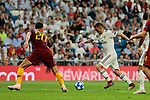 Real Madrid's Dani Ceballos and AS Roma's Federico Fazio during Champions League match. September 19, 2018. (ALTERPHOTOS/A. Perez Meca)