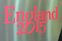 England 2015 branding during the Rugby World Cup 2015 Venues and Match Schedule Launch at Twickenham Stadium on Thursday 2nd May 2013 (Photo by Rob Munro)