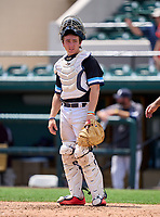 Maclay Marauders catcher Broedy Poppell (3) during the 42nd Annual FACA All-Star Baseball Classic on June 6, 2021 at Joker Marchant Stadium in Lakeland, Florida.  (Mike Janes/Four Seam Images)