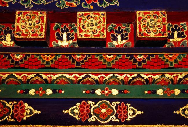 Courtyard in Red Palace of Potala Palace, Dalai Lamas winter residence, Lhasa, Tibet Autonomous Region, China, Asia