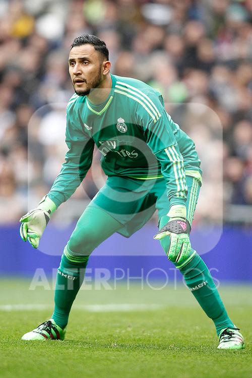 Real Madrid's Keylor Navas during La Liga match. February 13,2016. (ALTERPHOTOS/Acero)