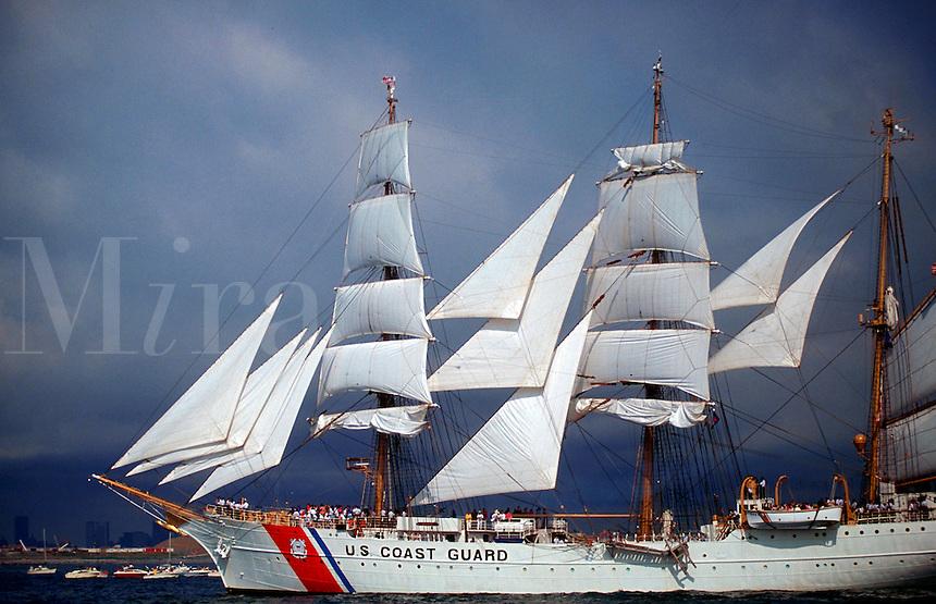 US Coast Guard training ship the Eagle.