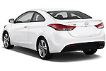Rear three quarter view of a 2013 Hyundai Elantra Coupe