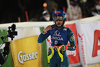 29th December 2020; Semmering, Austria; FIS Womens Giant Slalom World Cup Skiing;  3rd placed Mikaela Shiffrin of the USA during the winners ceremony for women Slalom competition of FIS ski alpine world cup at the Panoramapiste in Semmering