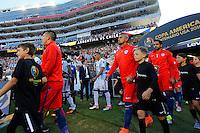 Action photo during the match Argentina vs Chile at Levis Stadium Copa America Centenario 2016. ---Foto  de accion durante el partido Argentina vs Chiler, En el Estadio de la Universidad de Phoenix, Partido Correspondiante al Grupo - D -  de la Copa America Centenario USA 2016, en la foto Arturo Vidal<br /> --- 06/06/2016/MEXSPORT/PHOTOSPORT/ Andres Pina