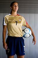 Shannon Boxx. U.S. Women's National Team portrait photoshoot. June 8, 2007 in Carson, CA.