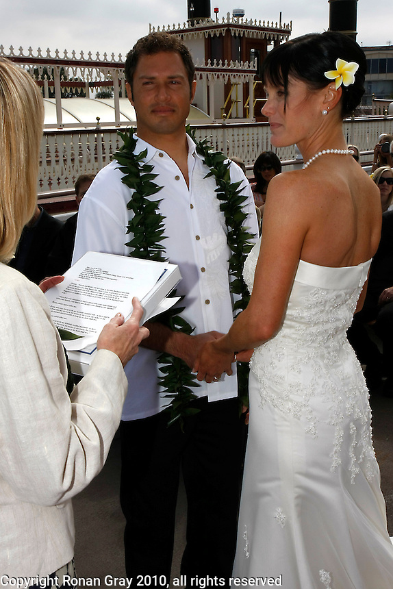 March 14, 2009:  Wedding of Ryan and Nicole Levinson aboard the Bahia Belle on Mission Bay, San Diego, CA, USA.