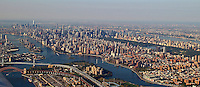 A panoramic view out the airplane window as I departed New York City in October 2013. (Photo by Brian Cleary/www.bcpix.com)