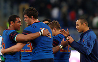 Rugby, Torneo Sei Nazioni: Italia vs Francia. Roma, stadio Olimpico, 15 marzo 2015.<br /> during the Six Nations championship rugby match between Italy and France at Rome's Olympic stadium, 15 March 2015.<br /> UPDATE IMAGES PRESS/Riccardo De Luca