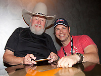 06 July 2020 - Country music and southern rock legend Charlie Daniels has passed away after suffering a stroke. The Grand Ole Opry member and Country Music Hall of Famer was 83. File Photo: June 10, 2011 - Duluth, GA - The legendary Charlie Daniels met with Tim Michaels of KICKS 101.5 FM (Atlanta) backstage prior to his show at Wild Bill's. Photo credit: Dan Harr/AdMedia
