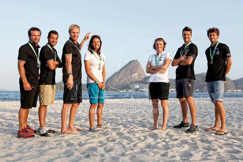 Rio de Janeiro Olympic Test Event - Fédération Française de Voile. Medal Race, Nacra17, Besson, Riou.