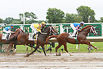 02 AUG 2009: Preakness winner Rachel Alexandra with Calvin Borel beats the boys in the 42nd edition of The Haskell Invitational at Monmouth Park, Oceanport, NJ