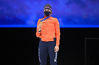 SPEEDSKATING: DORDRECHT: 06-03-2021, ISU World Short Track Speedskating Championships, Podium 1500m Ladies, Suzanne Schulting (NED), ©photo Martin de Jong