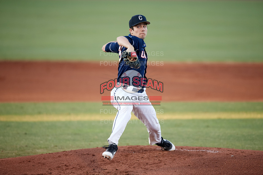 UConn Huskies starting pitcher Tim Cate (36) delivers a pitch during a game against the USF Bulls on March 23, 2018 at USF Baseball Stadium in Tampa, Florida.  UConn defeated USF 6-4.  (Mike Janes/Four Seam Images)