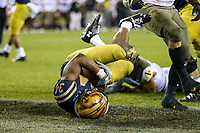 Philadelphia, PA - December 14, 2019:     Navy Midshipmen fullback Jamale Carothers (34) scores a touchdown during the 120th game between Army vs Navy at Lincoln Financial Field in Philadelphia, PA. (Photo by Elliott Brown/Media Images International)