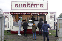 A queue at the burger van during West Ham United Women vs Arsenal Women, Women's FA Cup Football at Rush Green Stadium on 26th January 2020
