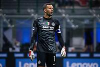 Milan, Italy - september 25 2021 - Serie A match F.C. Internazionale - Atalanta BC San Siro stadium - handanovic samir goalkeeper f.c. internazionale