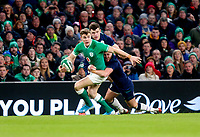 Saturday 1st February 2020 | Ireland vs Scotland<br /> <br /> Garry Ringrose during the 2020 6 Nations Championship   clash between Ireland and Scotland at he Aviva Stadium, Lansdowne Road, Dublin, Ireland. Photo by John Dickson / DICKSONDIGITAL